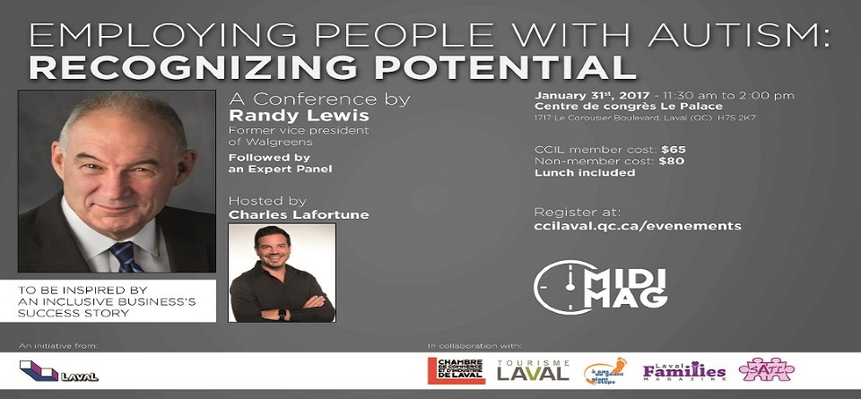 Creating Awareness and Job Opportunities – Randy Lewis Coming to Laval | Laval Families Magazine | Laval's Family Life Magazine