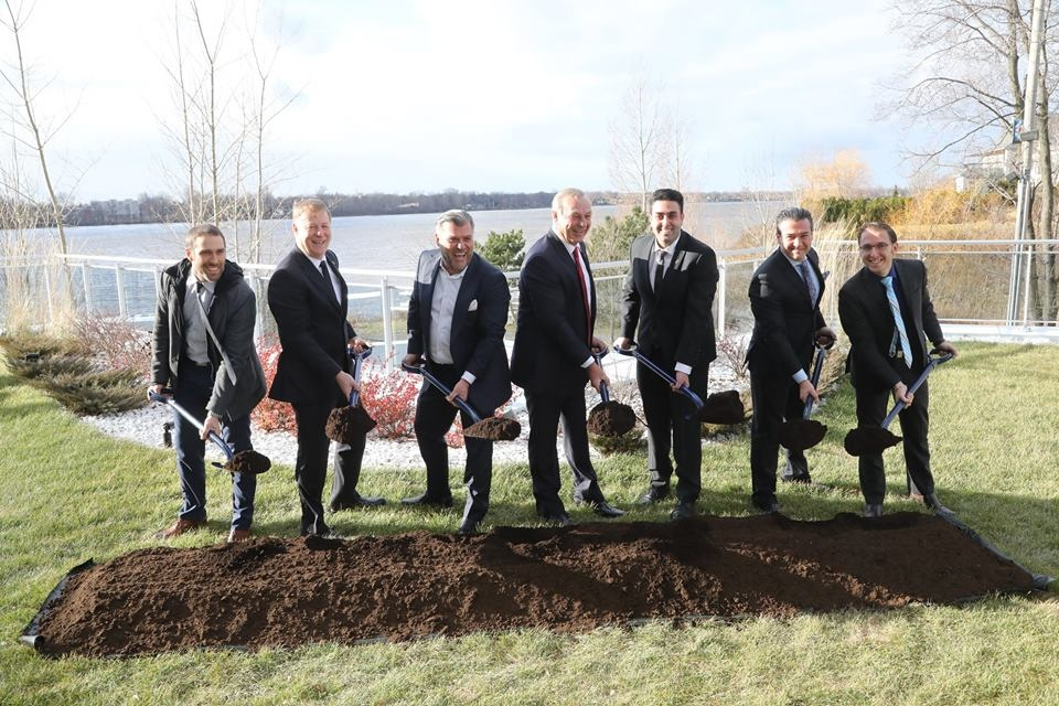 Ground Breaking Ceremony and a New Ambassador for Aquablu Guy Lafleur as New Spokesperson for Greater Montreal's Most Sought- After Address | Laval Families Magazine | Laval's Family Life Magazine